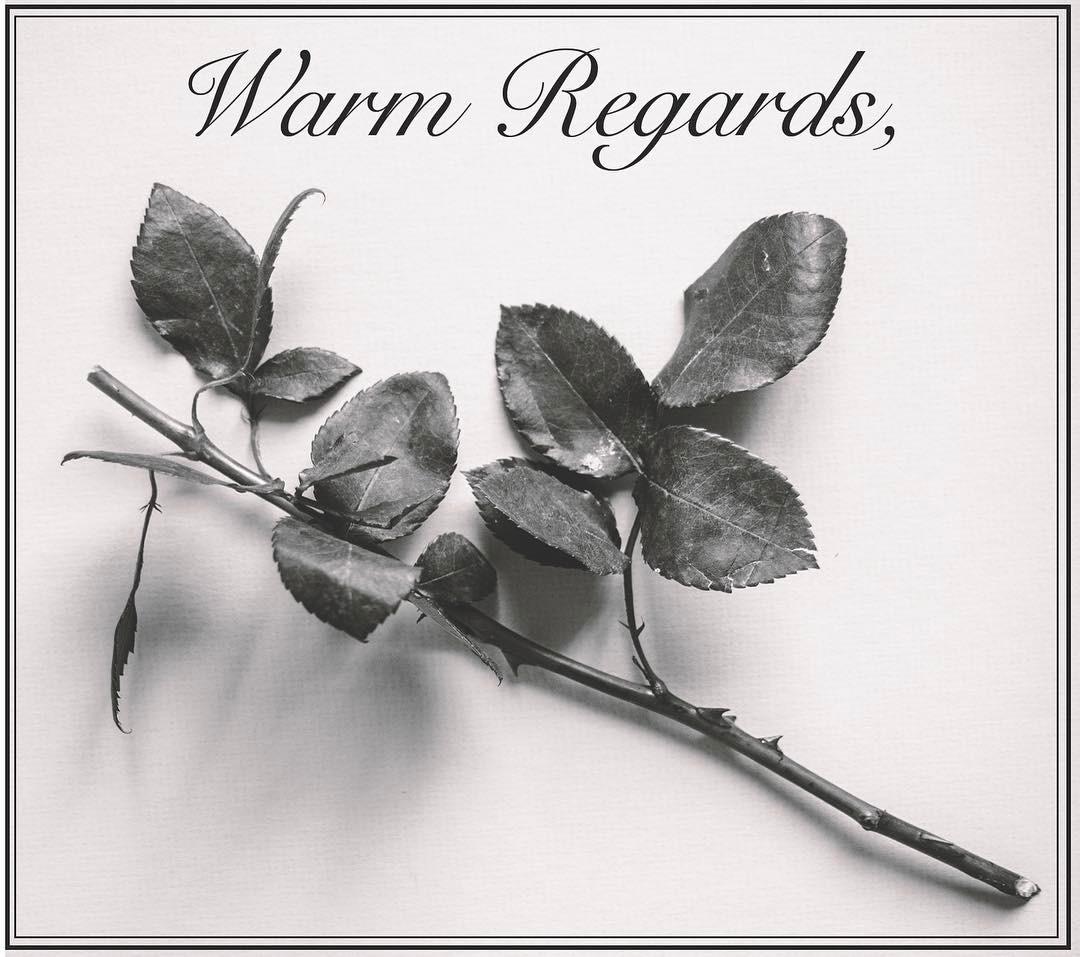 Warm Regards,