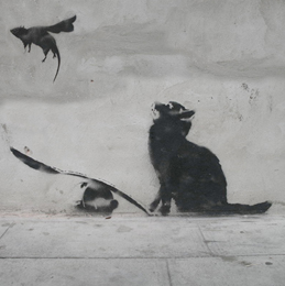 Art by Banksy, maybe.