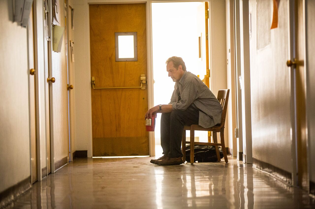 Barry Maxwell, flashing back to childhood afternoons spent waiting outside the principal's office for punishment. Photo by Amy Donovan.
