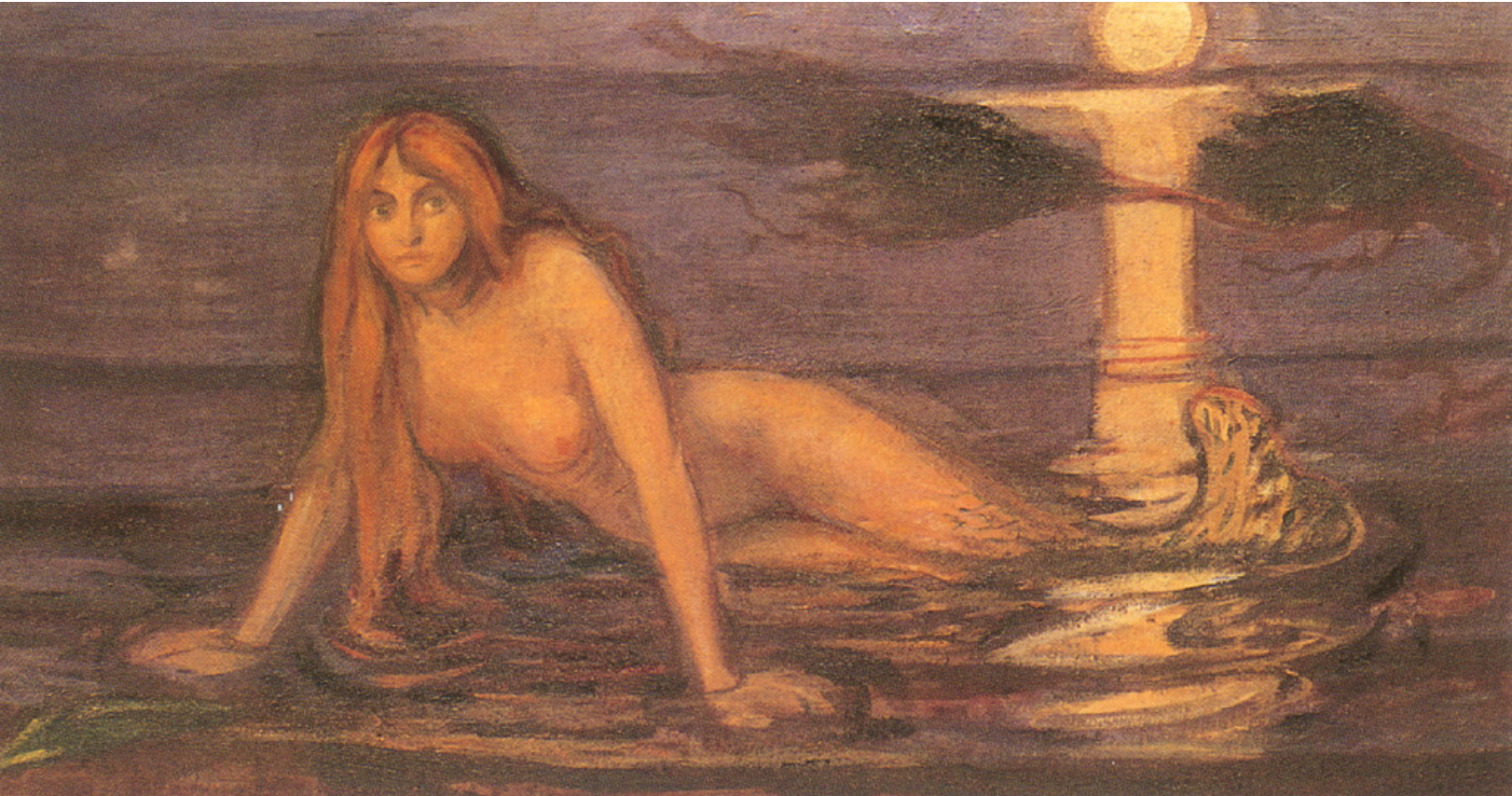 "Edvard Munch, ""Lady from the Sea,"" 1896: Image from  Wikimedia"