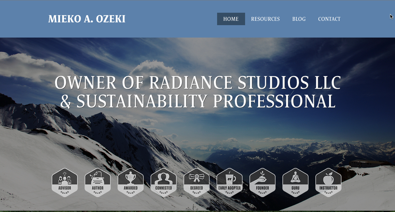 My old website created via  Workfolio  with Aperture theme.