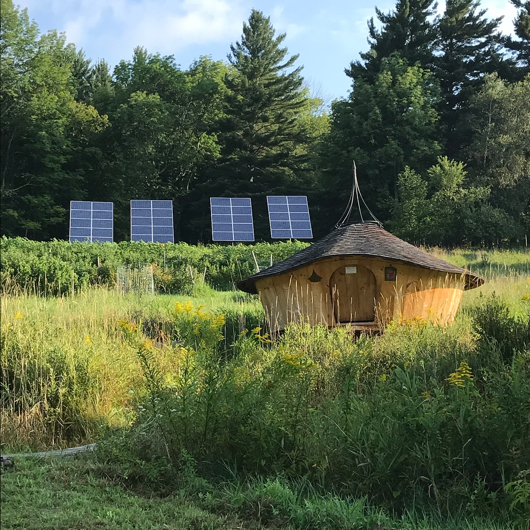 Water yurt. A wonderful place for meditation, a nap, and reading. Designed and built by  Daniel Neumeyer  and dedicated to  William Coperthwaite .