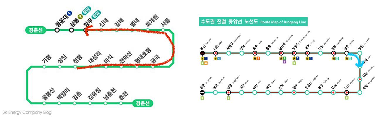 京春線 清平站---忘憂站---中央線 九里站