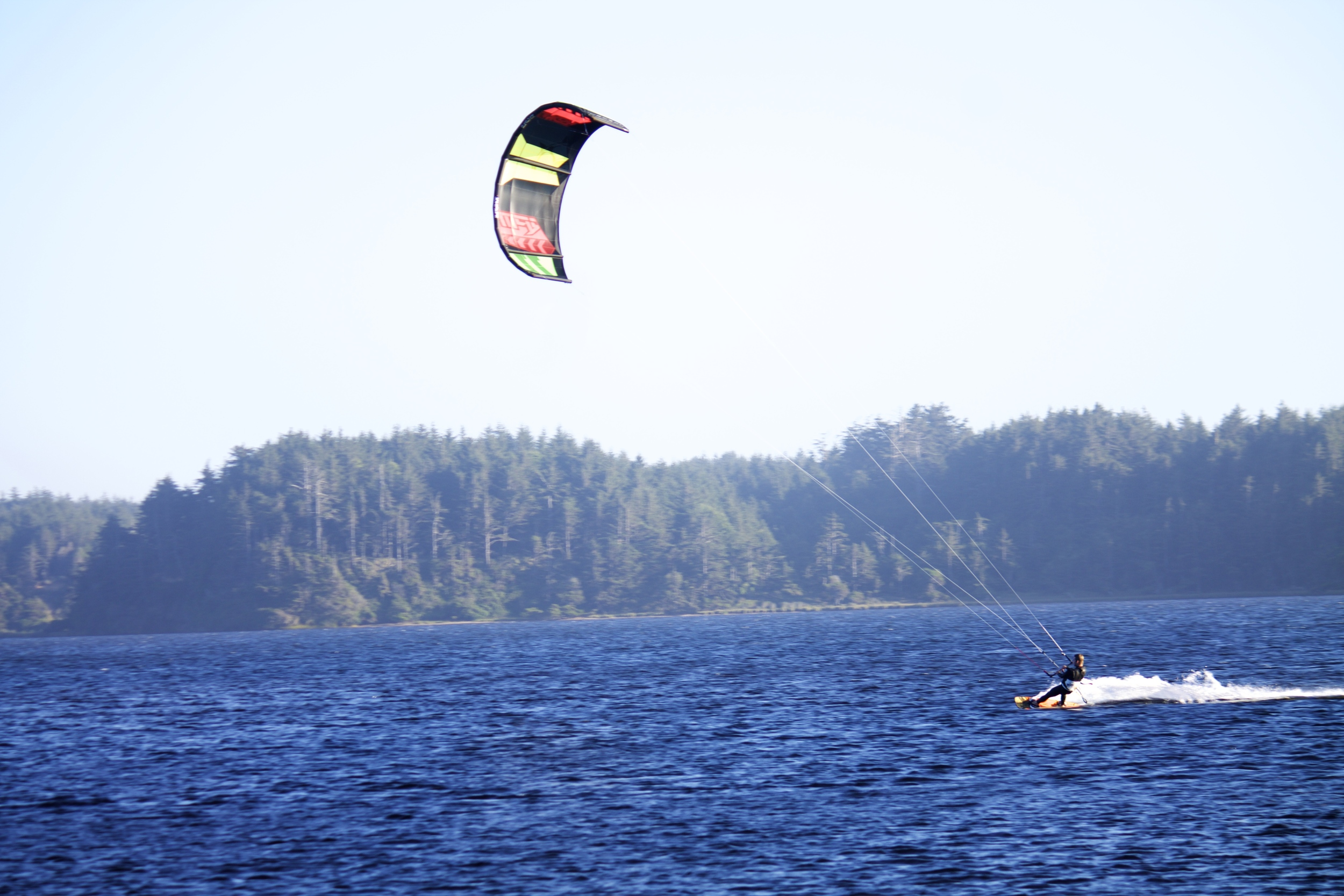 Kiting at Floras Lake