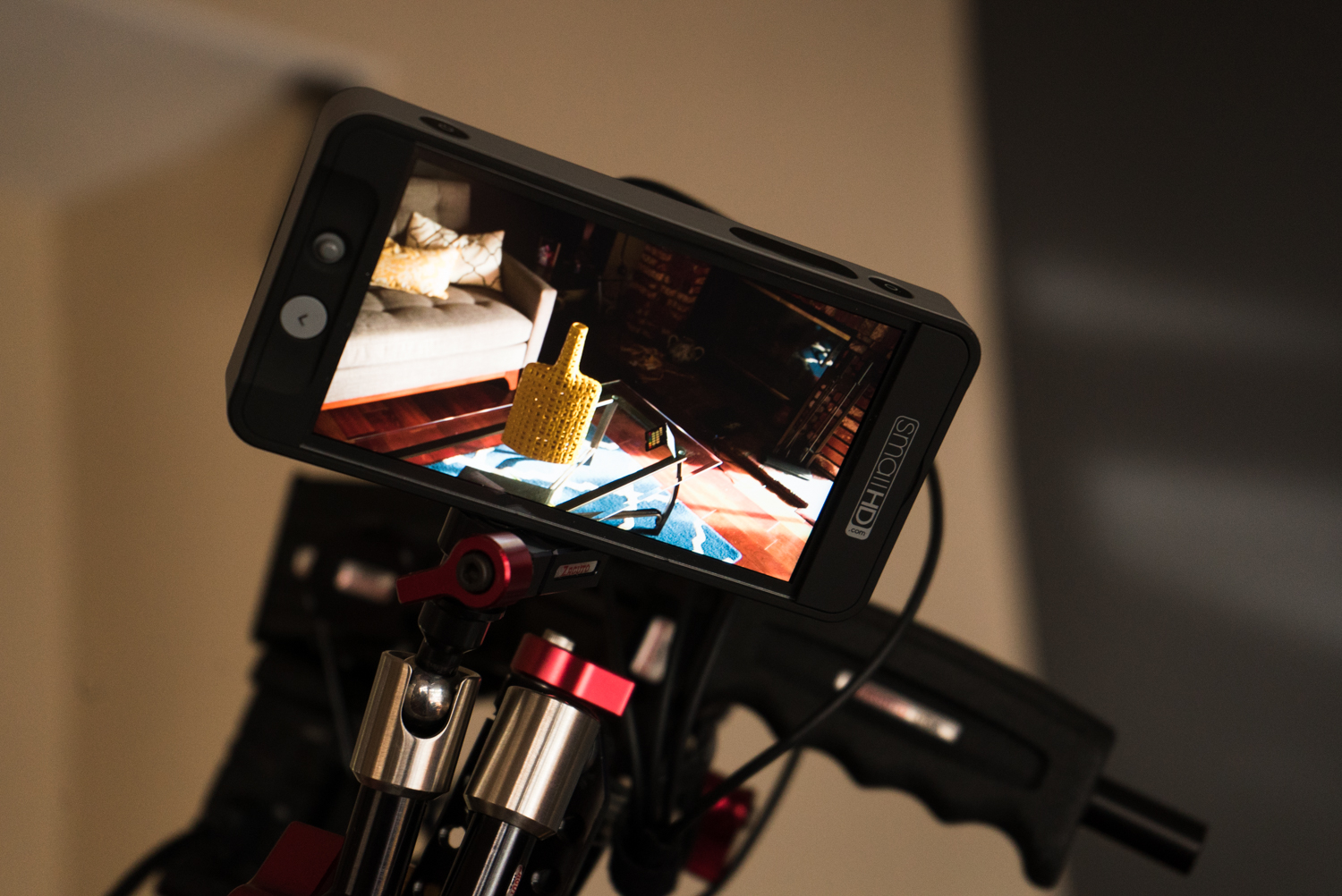 The SmallHD 502 with a custom LUT applied.