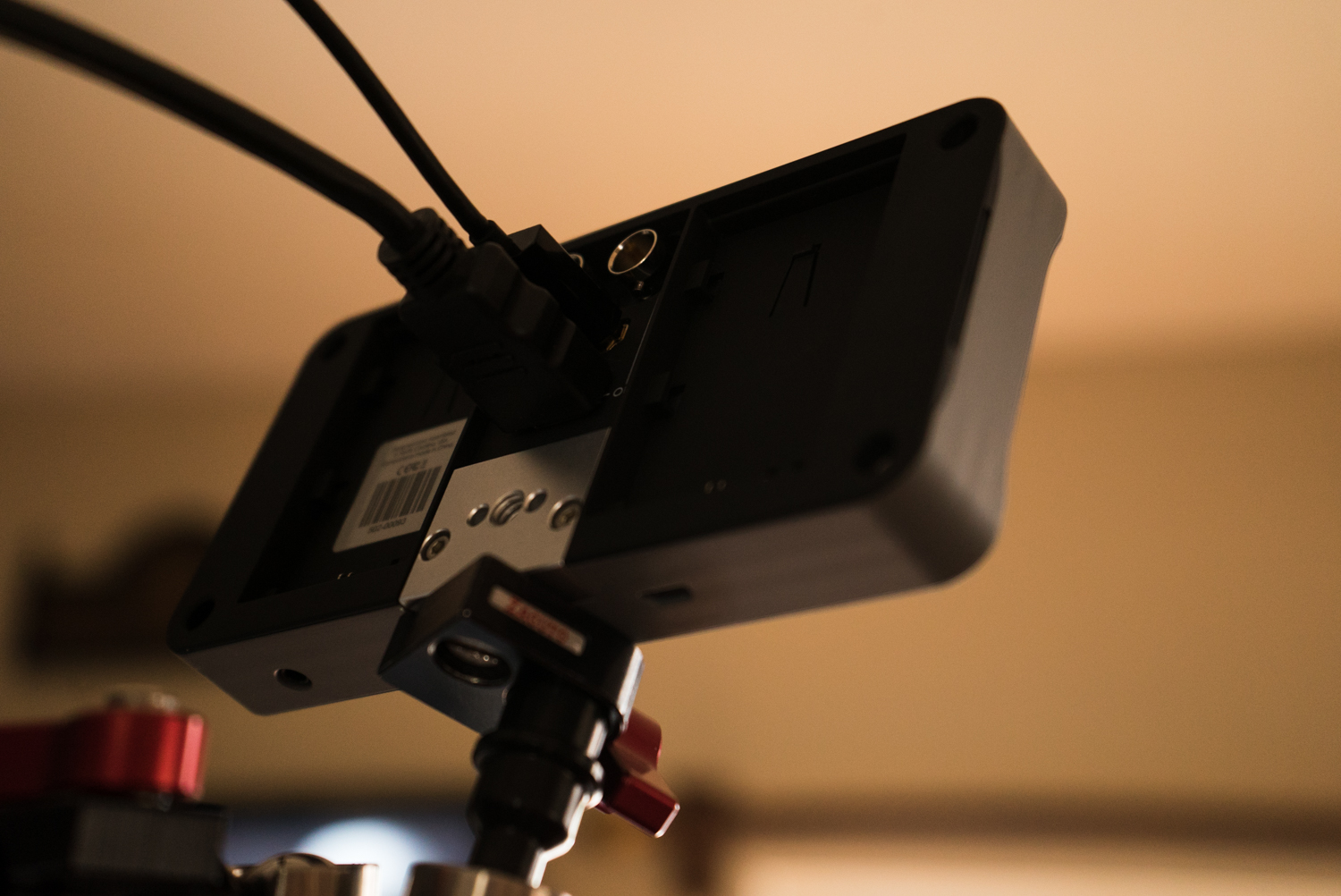 Back of the SmallHD 502 - HDMI In/Out and SDI In/Out