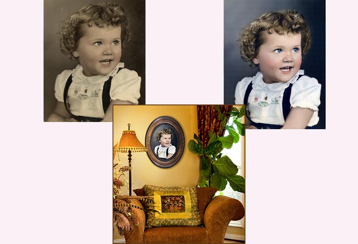 Restoration of Old Photo, Giclee Printing and Framing at Thomas Canny Studio.jpg