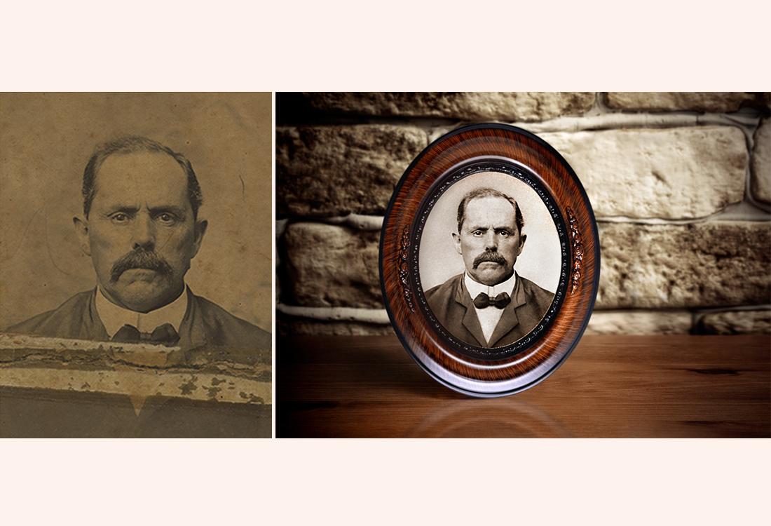 Restoring damaged antique photograph at Thomas Canny Studio_001.jpg