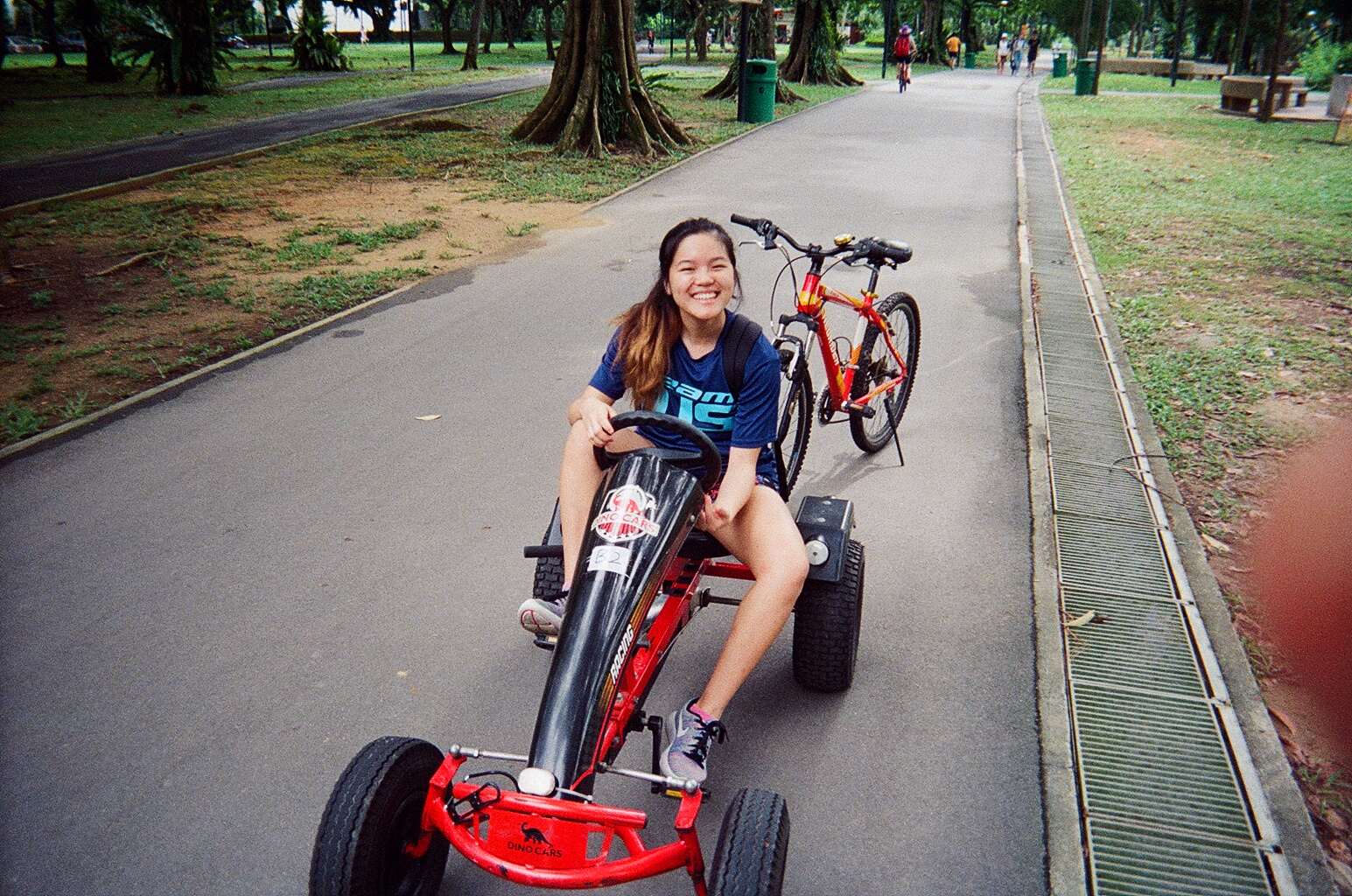 Instead of cycling, I rode this go-kart thing which proved to be quite an exercise for my legs! I also came back with bruises on my knees because the go-kart was a little short for me. I suspect it's made for young children as I'm already very short!
