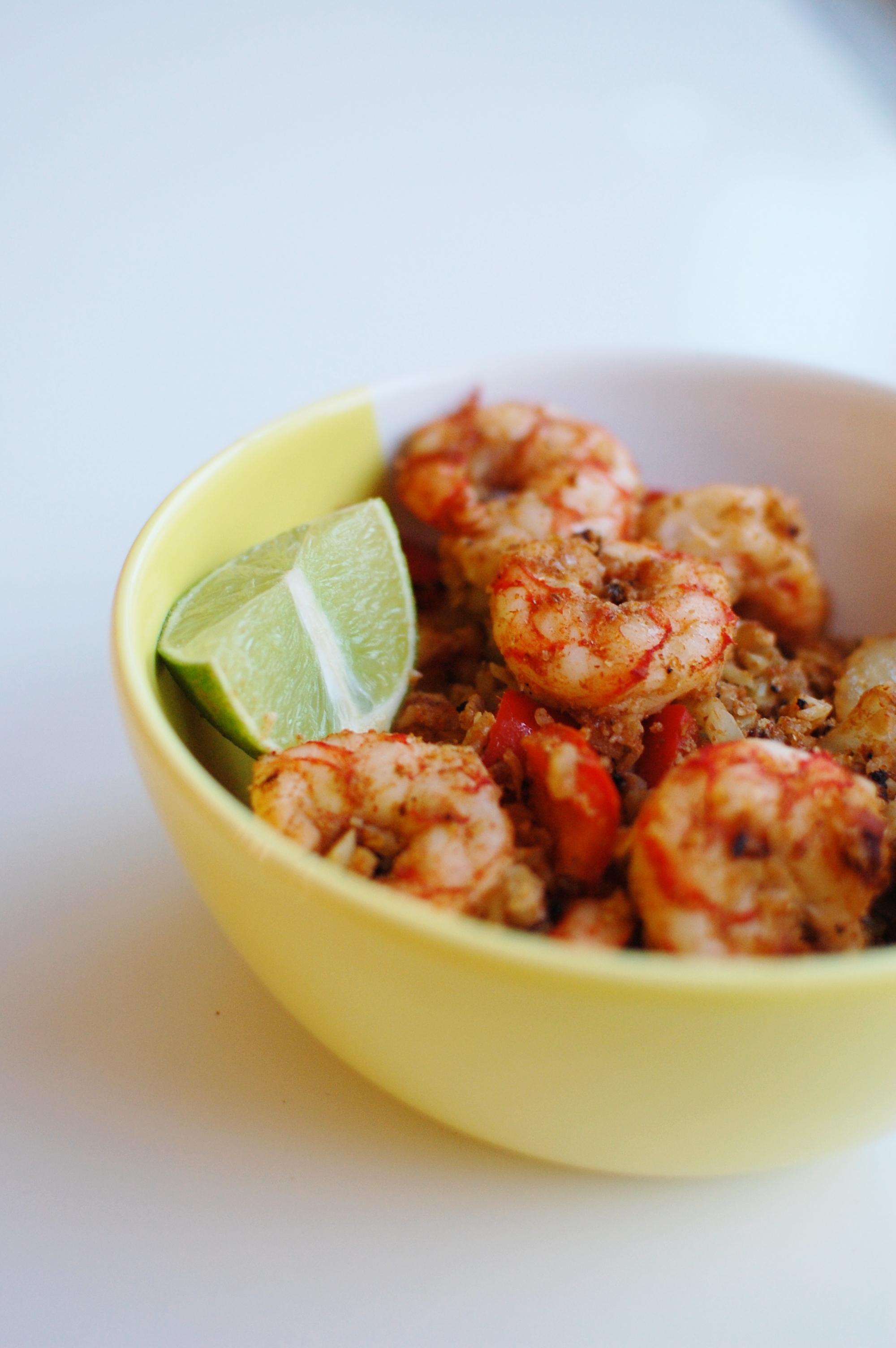 Mexican Shrimp bowl