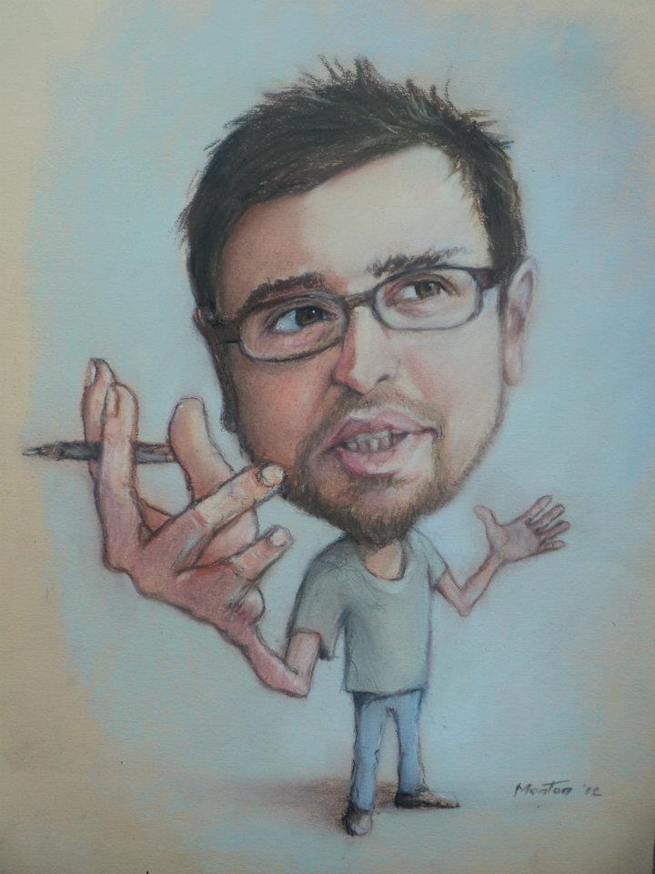 Caricature by Mentor Llapashtica