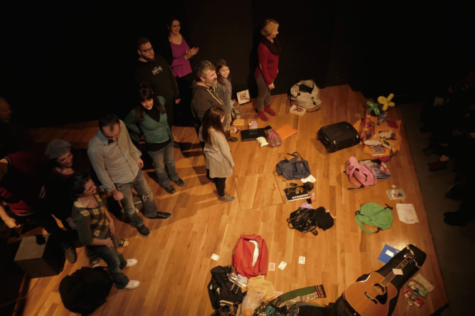 The ovation for  Readiness Exercise  (a workshop in advance of the play) at Beep theater in Athens