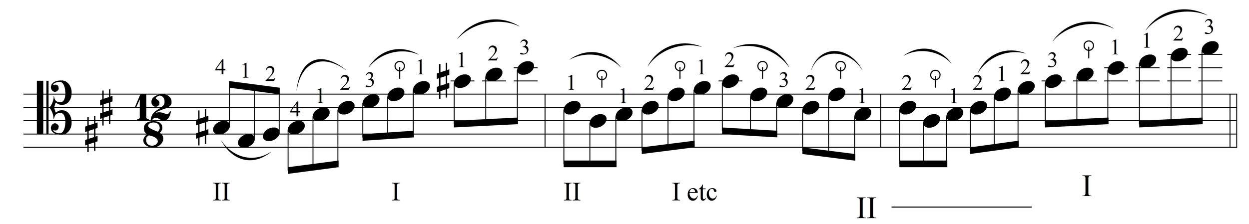 Johann Sebastian Bach, Suite No. 6 in D Major BWV 1012,  Prelude,  mm. 67-69