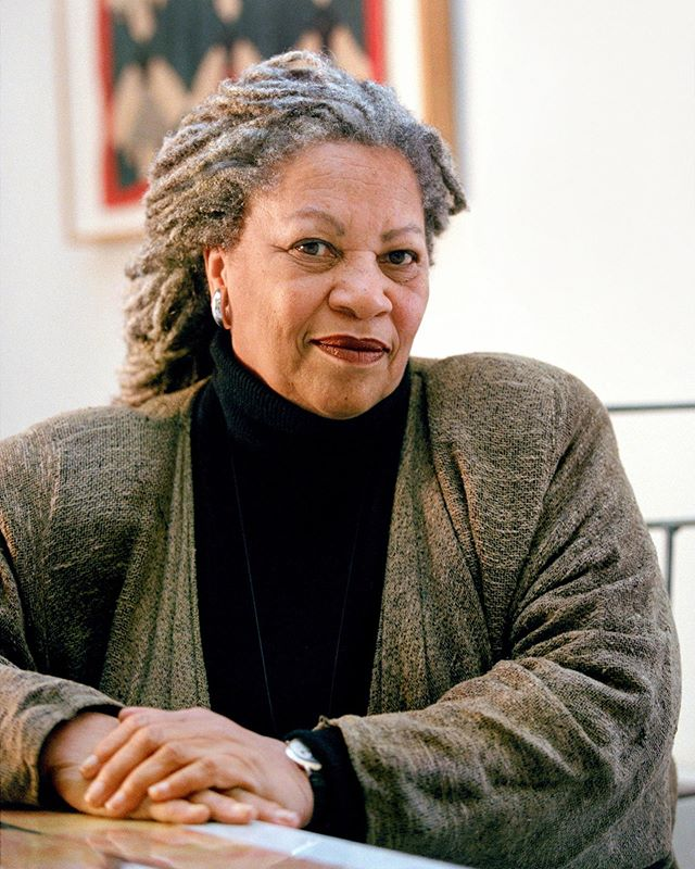 """I'm sad about Toni Morrison, you guys. Few artists achieve the clarity of life that Toni Morrison did. She was always a beacon of artistic commitment and purity for me, no matter what medium I was working in. There's a strange feeling of loneliness when a hero dies – they're no longer here to carry that massive, beautiful torch, and you wonder and are afraid if that torch is somehow being passed on to you. . """"What I'm going to say is going to sound so pompous, but I think an artist, whether it's a painter or a writer, it's almost holy. There's something about the vision, the wisdom. You can be a nobody, but seeing that way, it's holy, it's godlike. It's above the normal life and perception of all of us, normally. You step up. And as long as you're up there, even if you're a terrible person—especially if you're a terrible person—you see things that come together, and shake you, or move you, or clarify something for you that outside of your art you would not have known. It really is a vision above, or beyond."""" —Toni Morrison"""