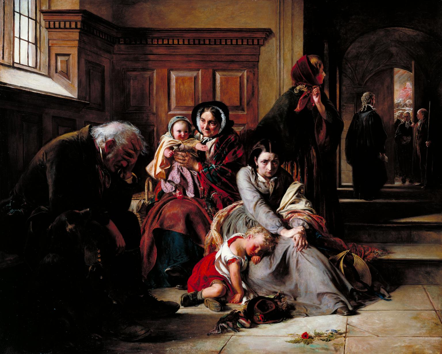 - Abraham Solomon (London 1824–1862 Biarritz)Waiting for the Verdict