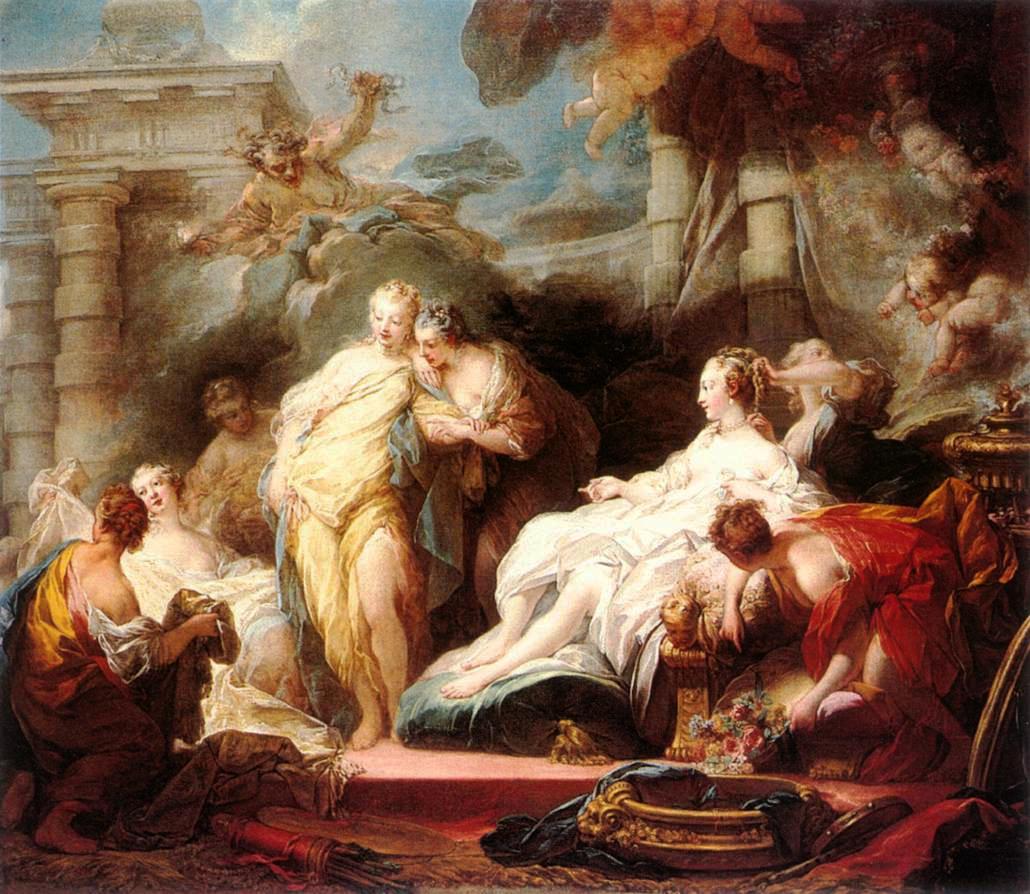 Psyché montre à ses sœurs les présentes qu'elle a reçus de l'Amour , 1753/54