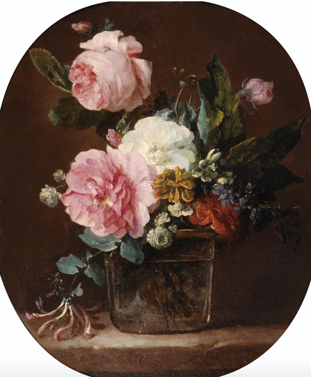 - Anne Vallayer-Coster (Paris 1744-1818 Paris)Bouquet de Fleurs dans un Vase