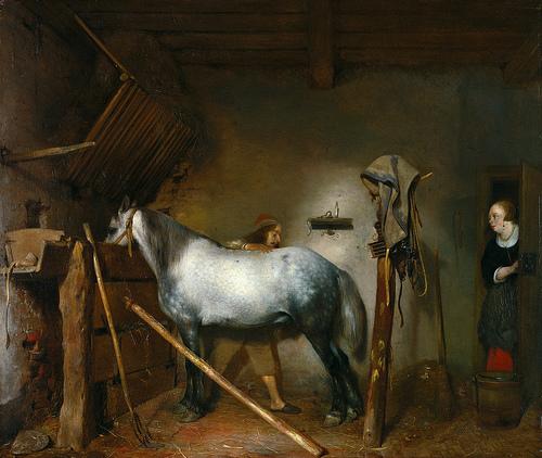 A Stable , circa 1654