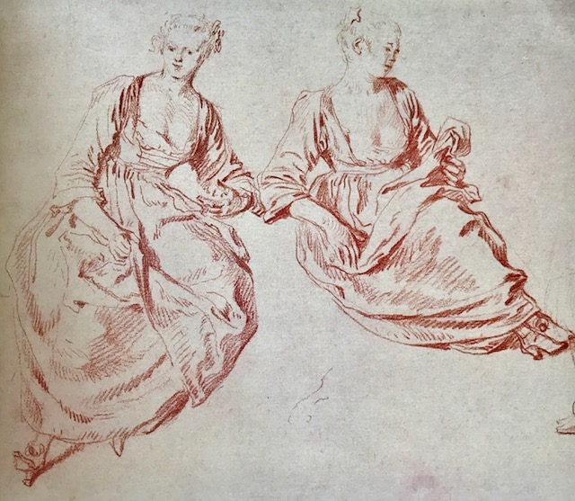 Study of Two Seated Women , circa 1716