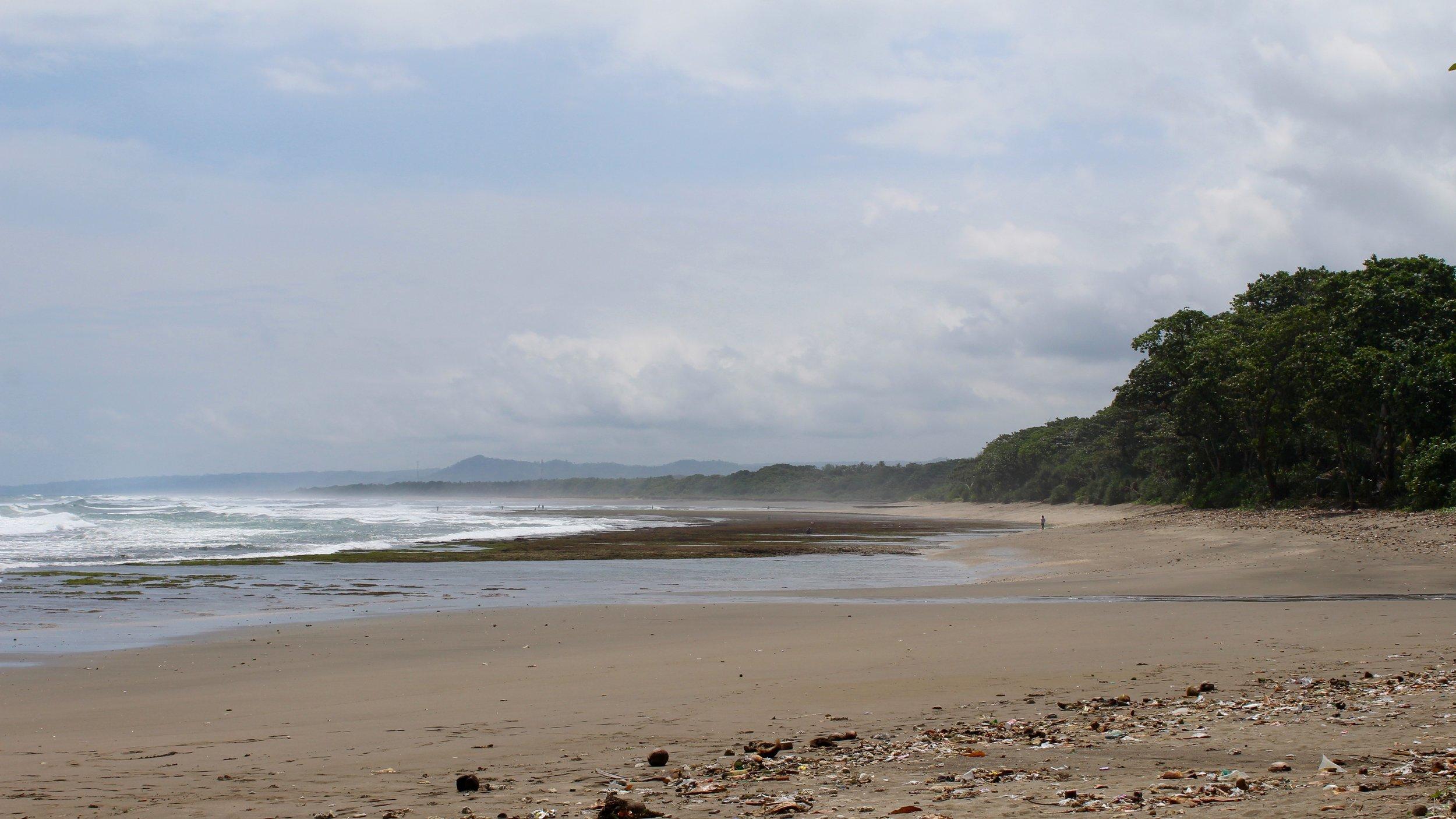 Java's desolate, somewhat trash-strewn southern coast.