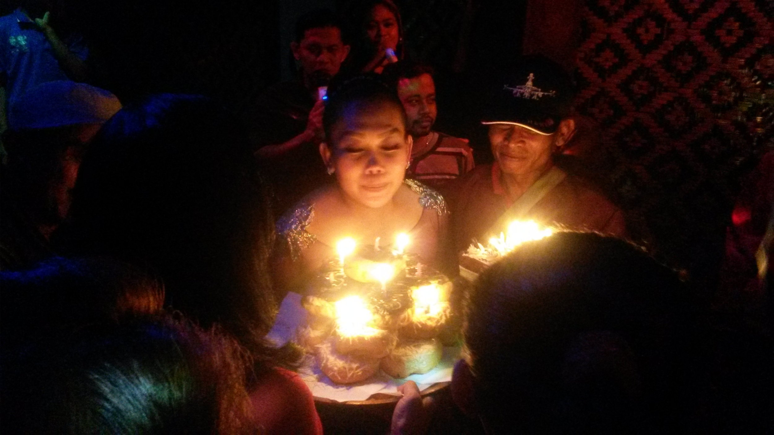 A birthday celebration for one of the jaipong dancers. Photo courtesy Mike Adcock.