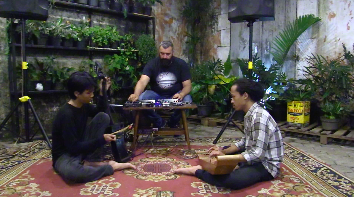 Rabih Beaini collabing with Tarawangsawelas in Bandung, West Java