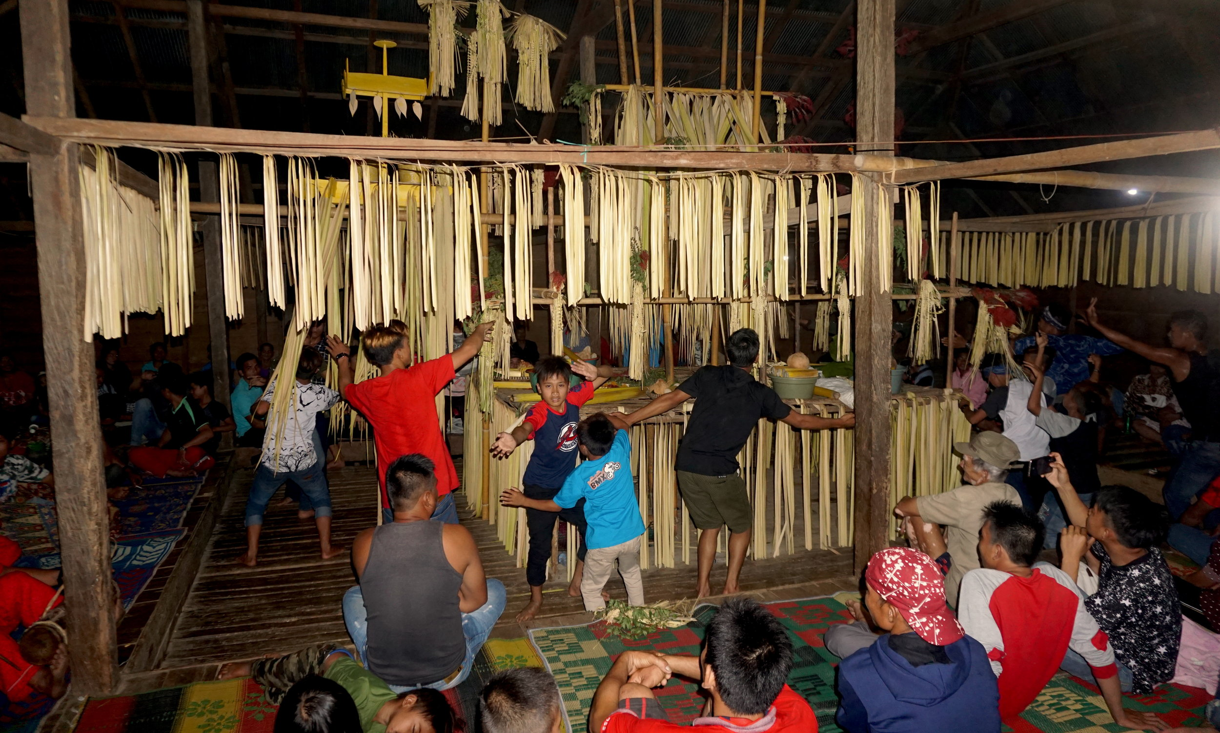 At a balian ritual in nearby Loksado, South Kalimantan.