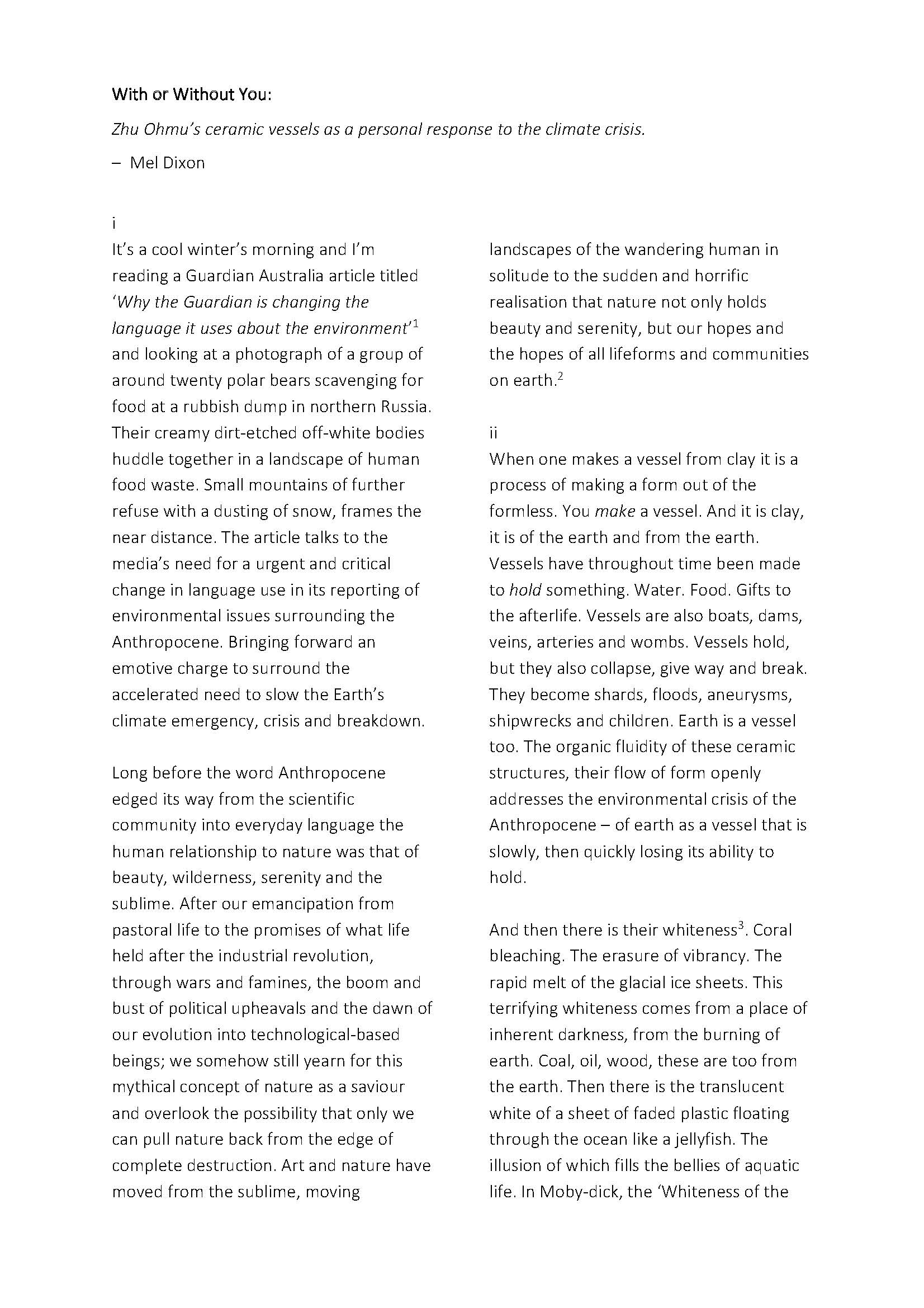 With or Without you - Zhu Ohmu exhibiton essay_Page_2.jpg