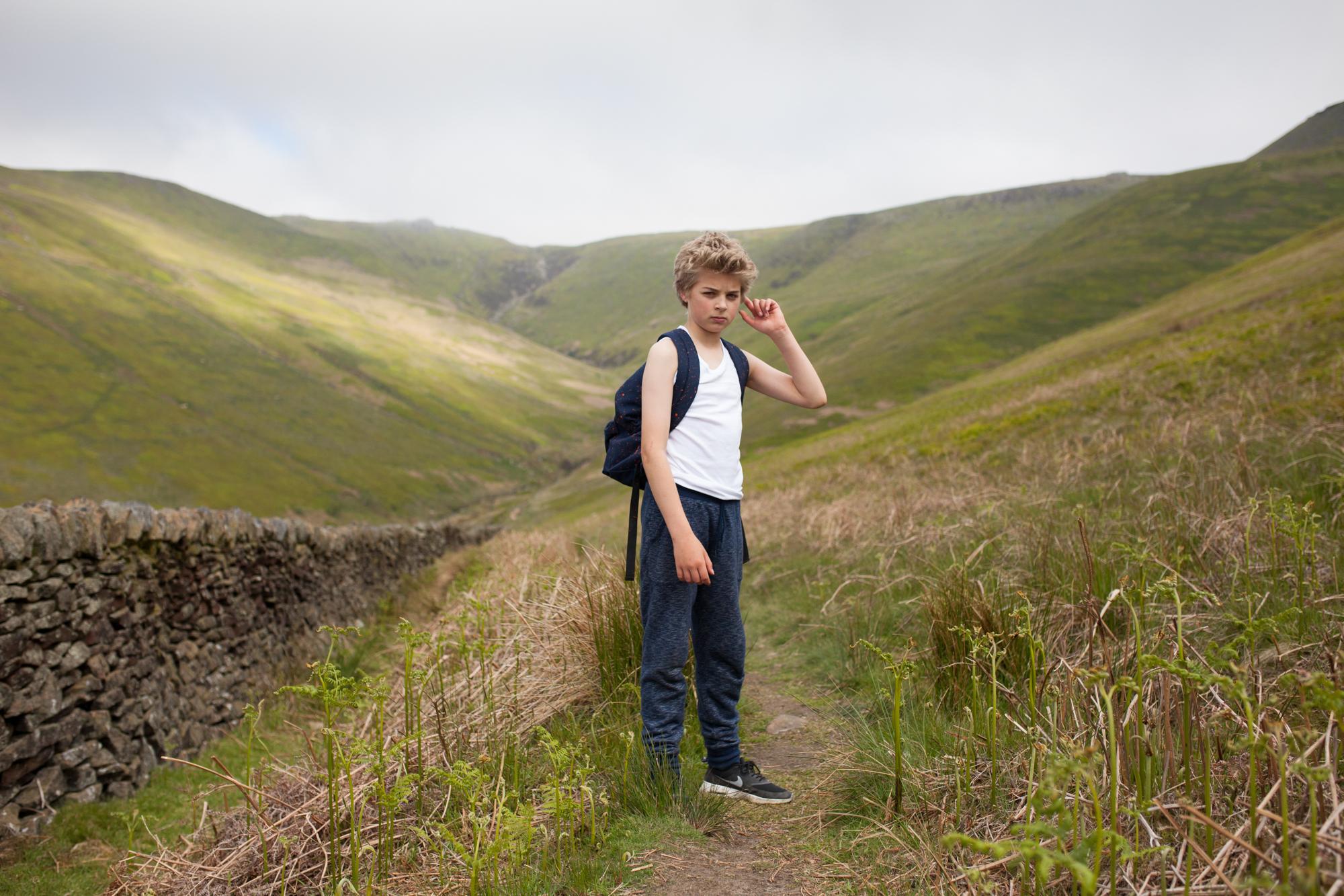 kinder scout, Edale, Derbyshire portrait