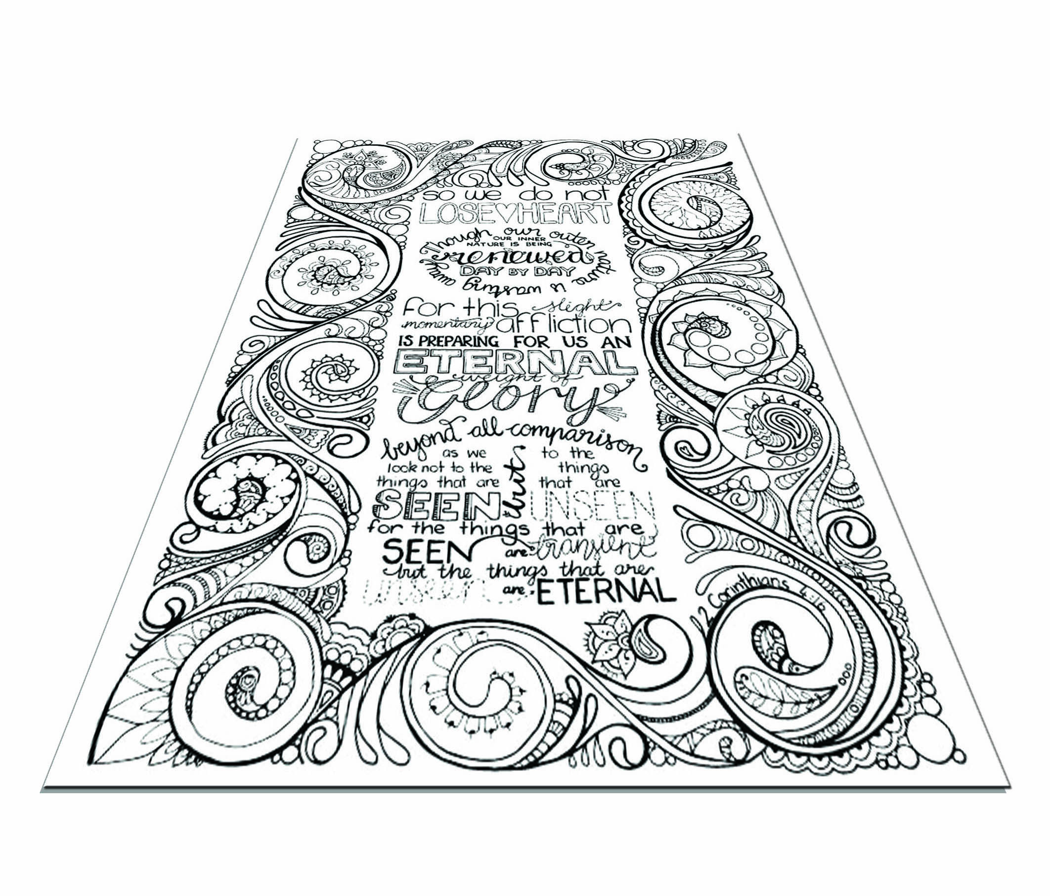 Unique beautiful bible coloring for adults