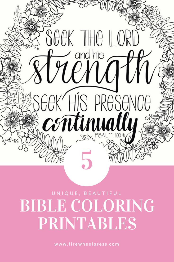 five amazing bible coloring sheets
