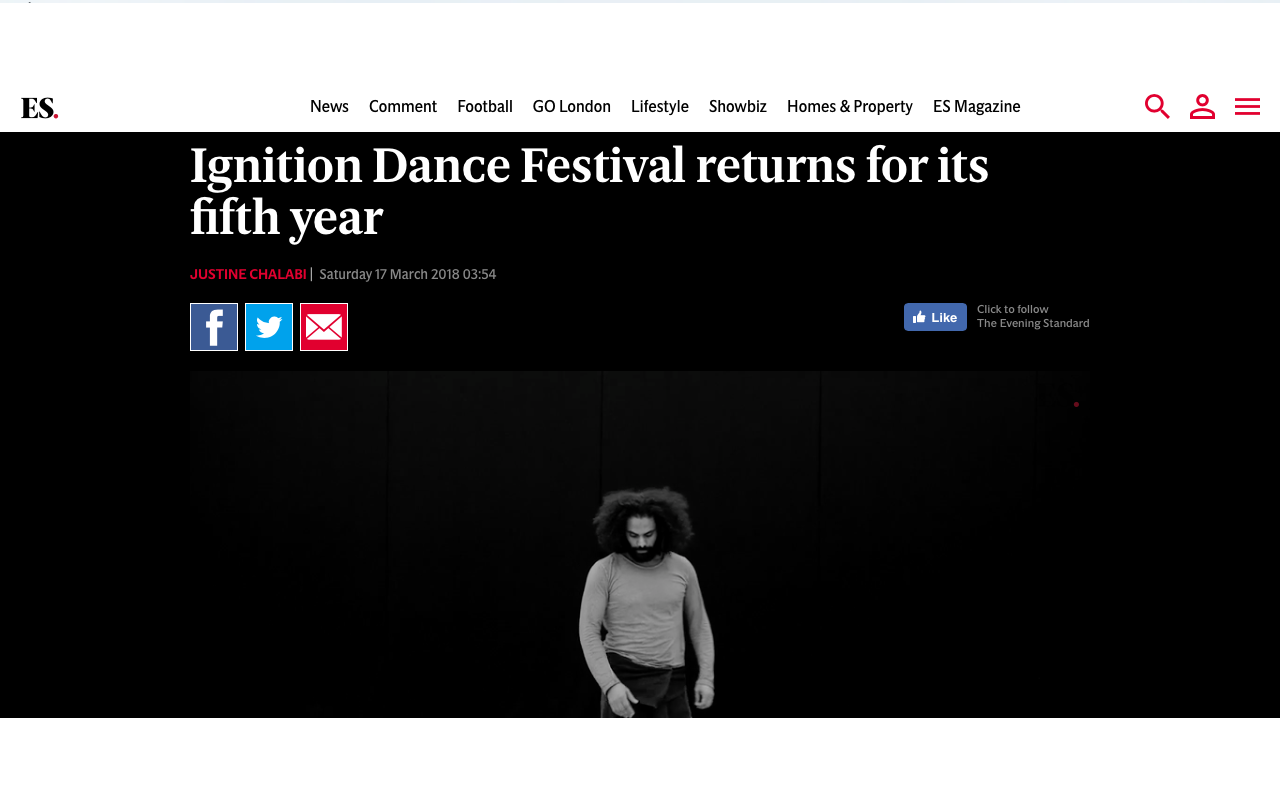 Watch the interview with DanceWest & Ignition Dance Festival founder Rosie Whitney-Fish  here