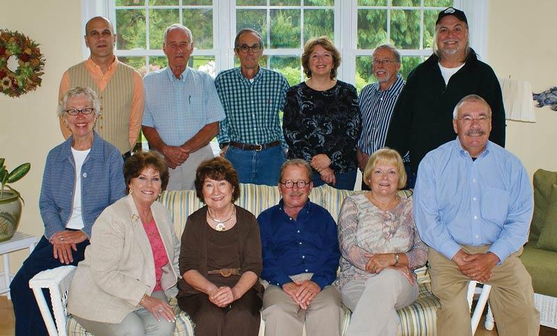 The Book Crew  Front Row: Cathy Webber, Jane Myers, Jane Paxton, Rick Morrow, Donna Davis, and Larry Davis   Back row: Chris Cart, Bob Stubbs, Sam Webber. Anne Vining, Cliff Vining, and Bill Haley