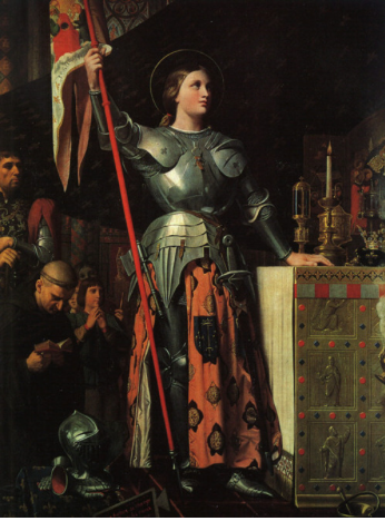 Joan of Arc at the coronation of Charles VII - Jean Auguste Dominique Ingres
