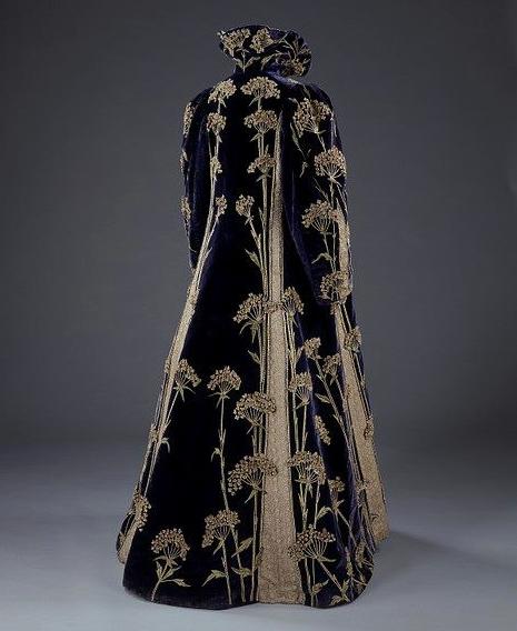 Embroidered velvet coat, Marshall & Snelgrove Ltd (retailers), 1895-1900, via Victoria and Albert Museum
