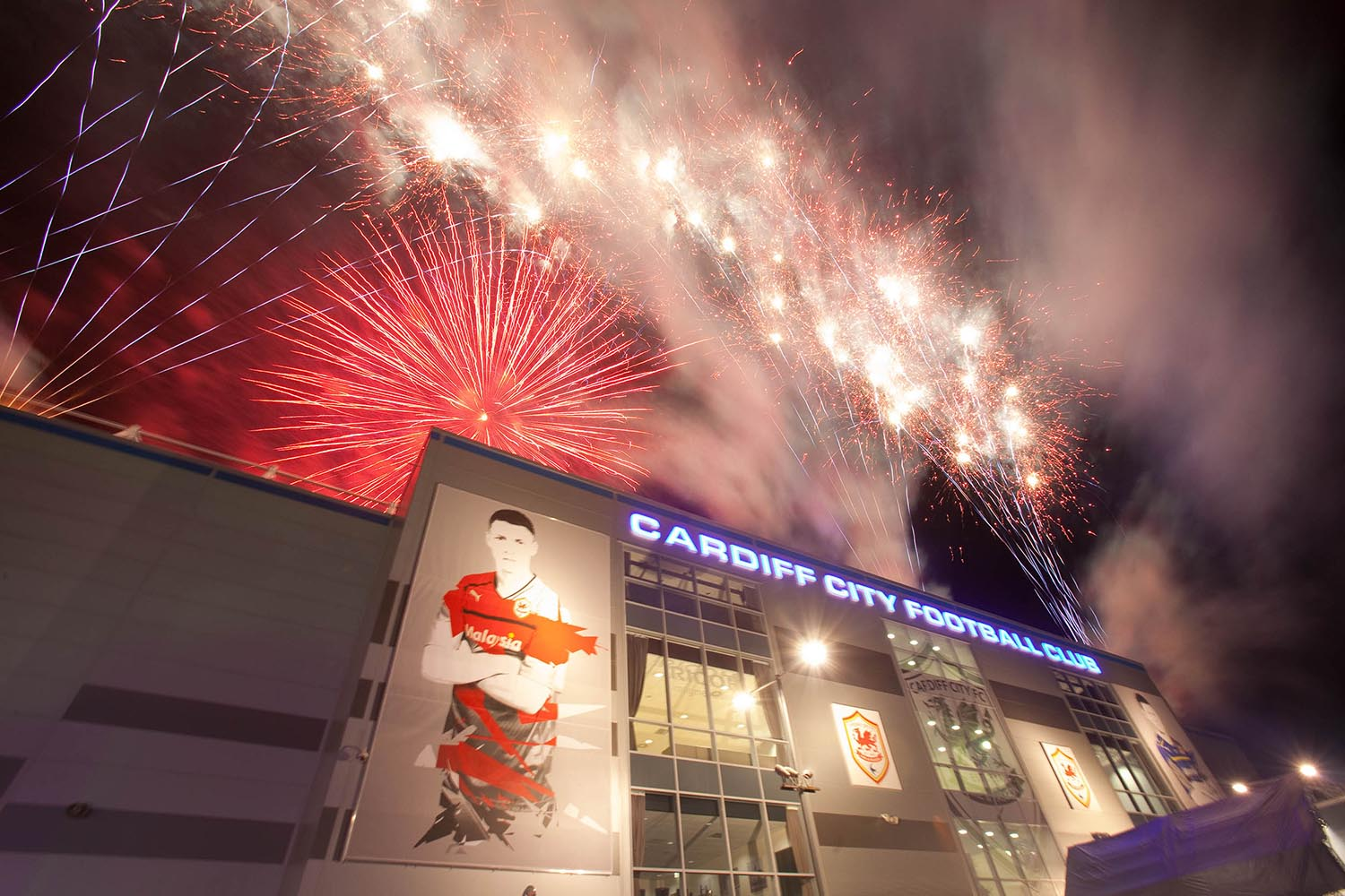 Fireworks at Cardiff City Stadium