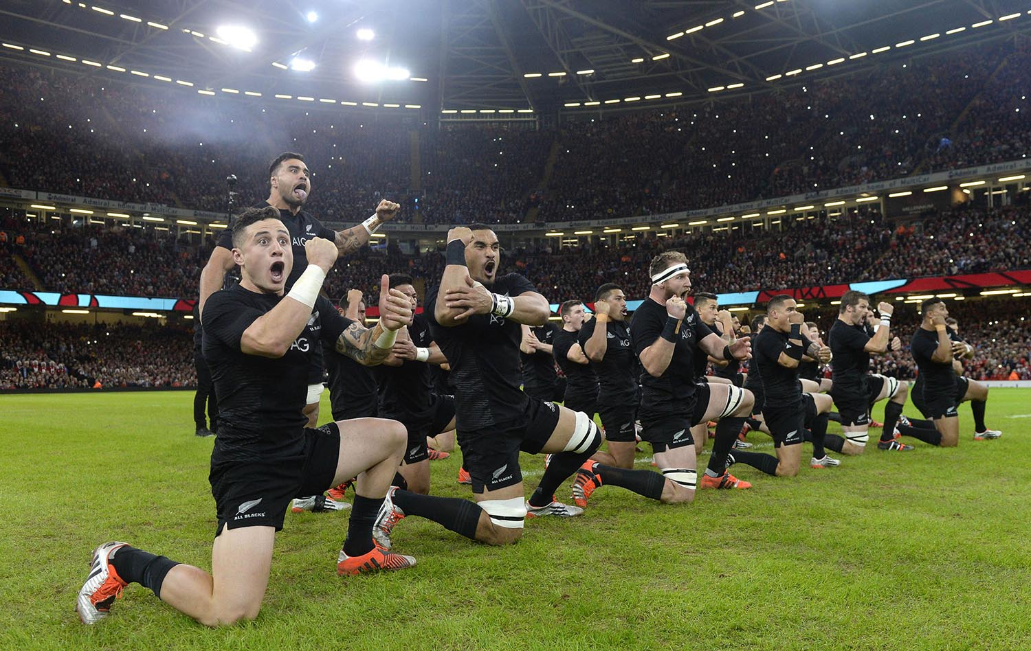 New Zealand All Blacks perform the Haka