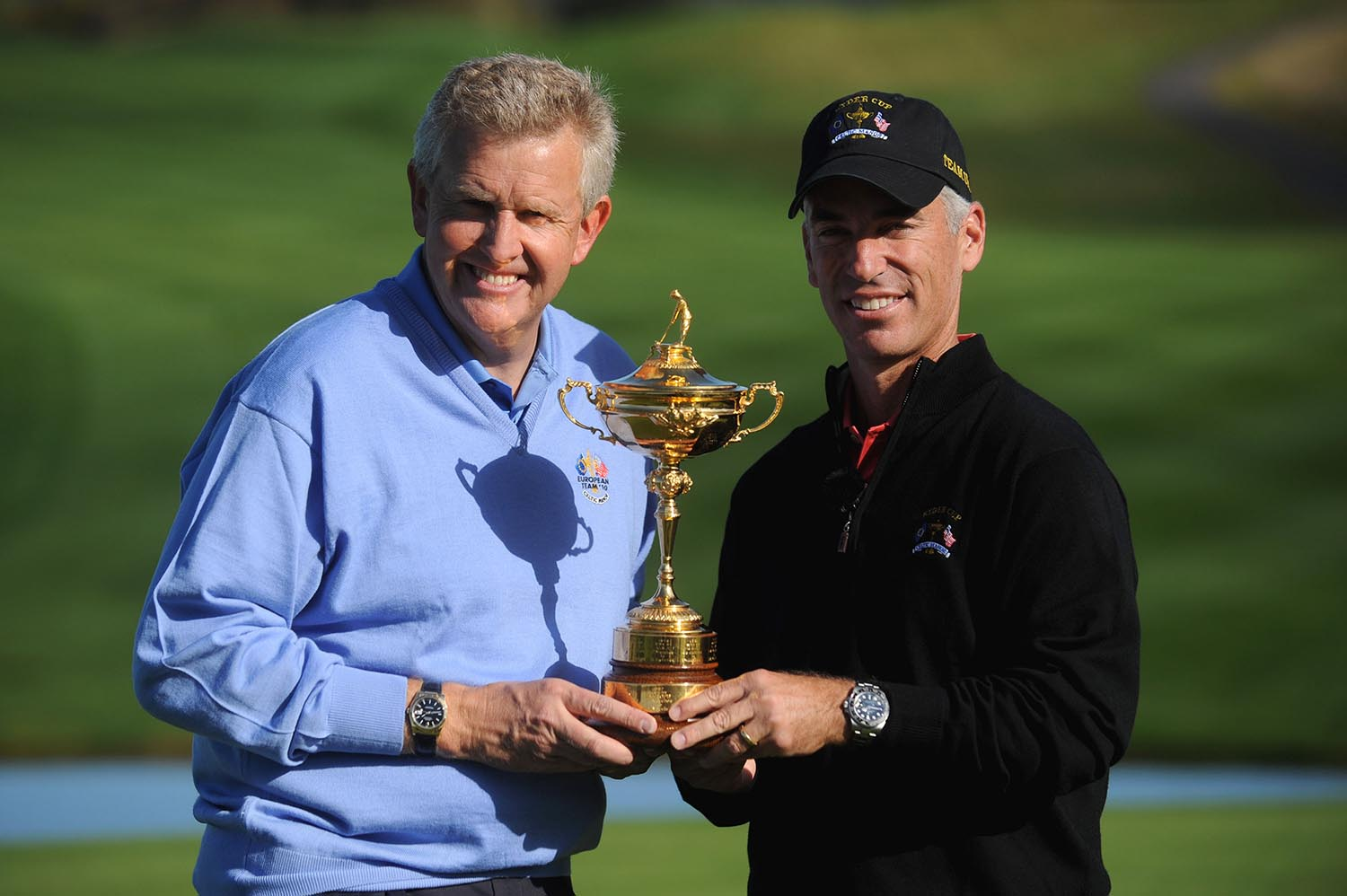 Colin Montgomerie and Corey Pavin with the Ryder Cup