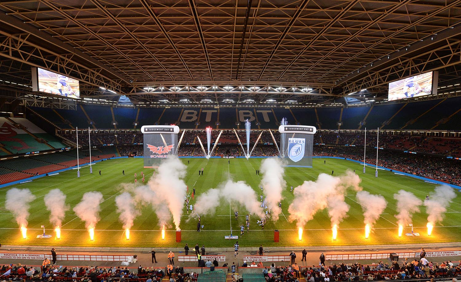 "The Millennium Stadium during ""Judgement Day"""