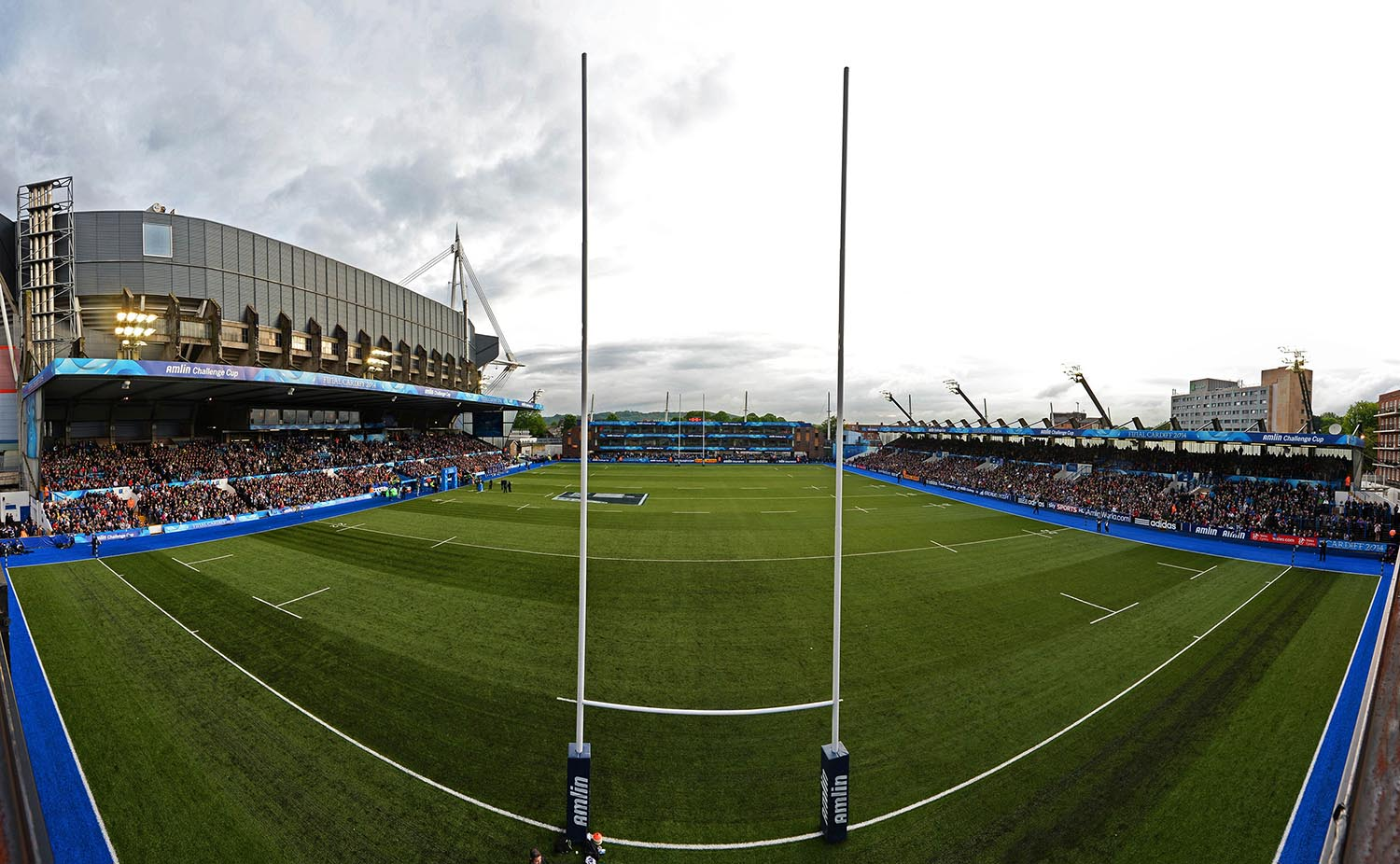 A general view of Cardiff Arms Park