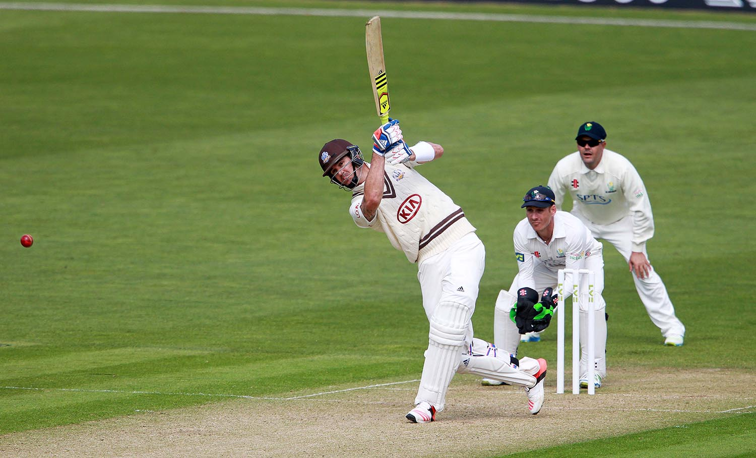 Kevin Pietersen batting for Surrey