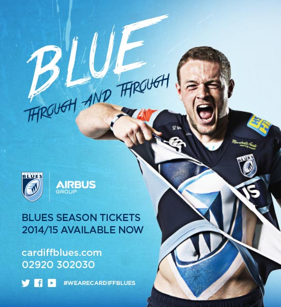 Cardiff Blues Season Ticket Advert