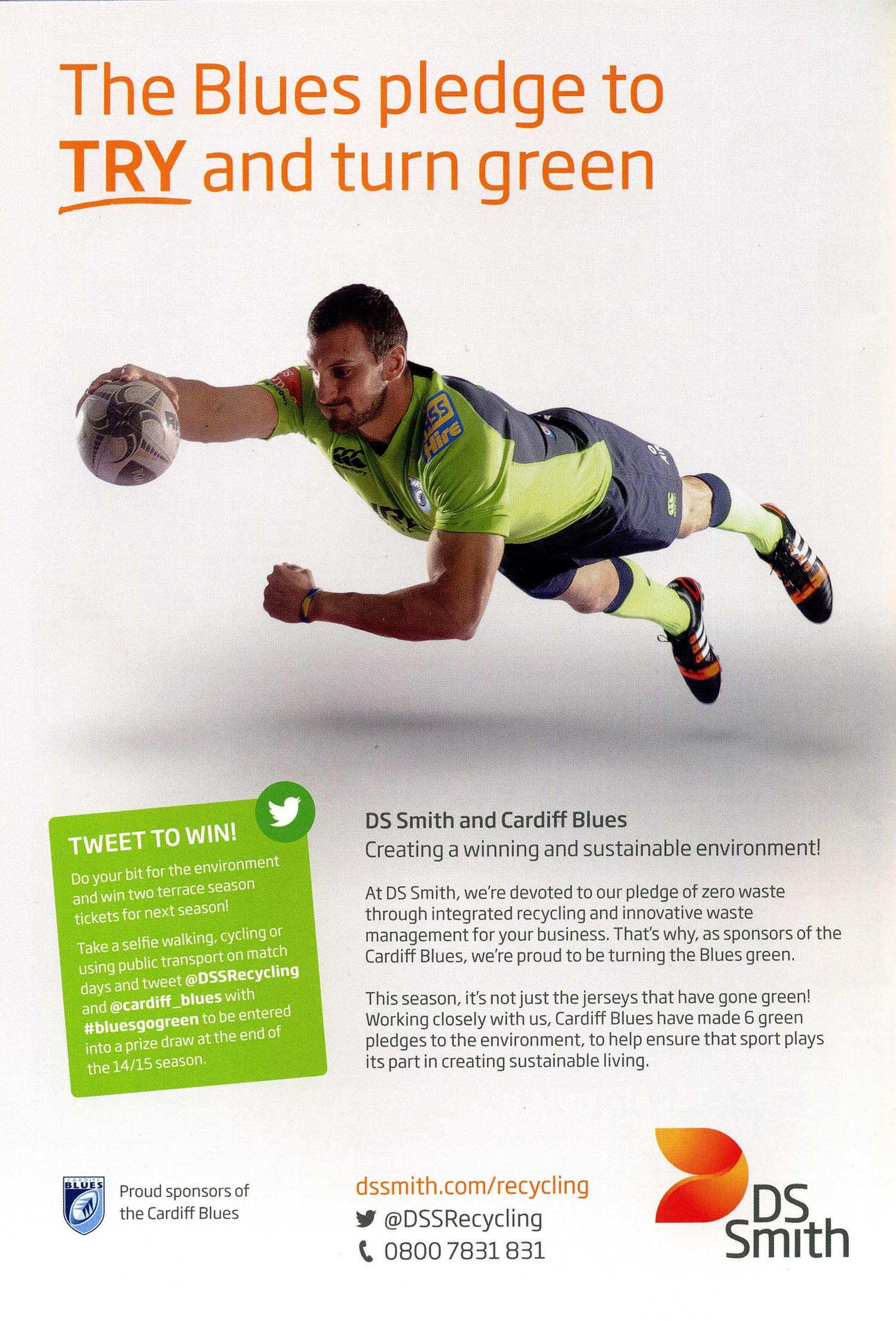 Sam Warburton - DS Smith advert