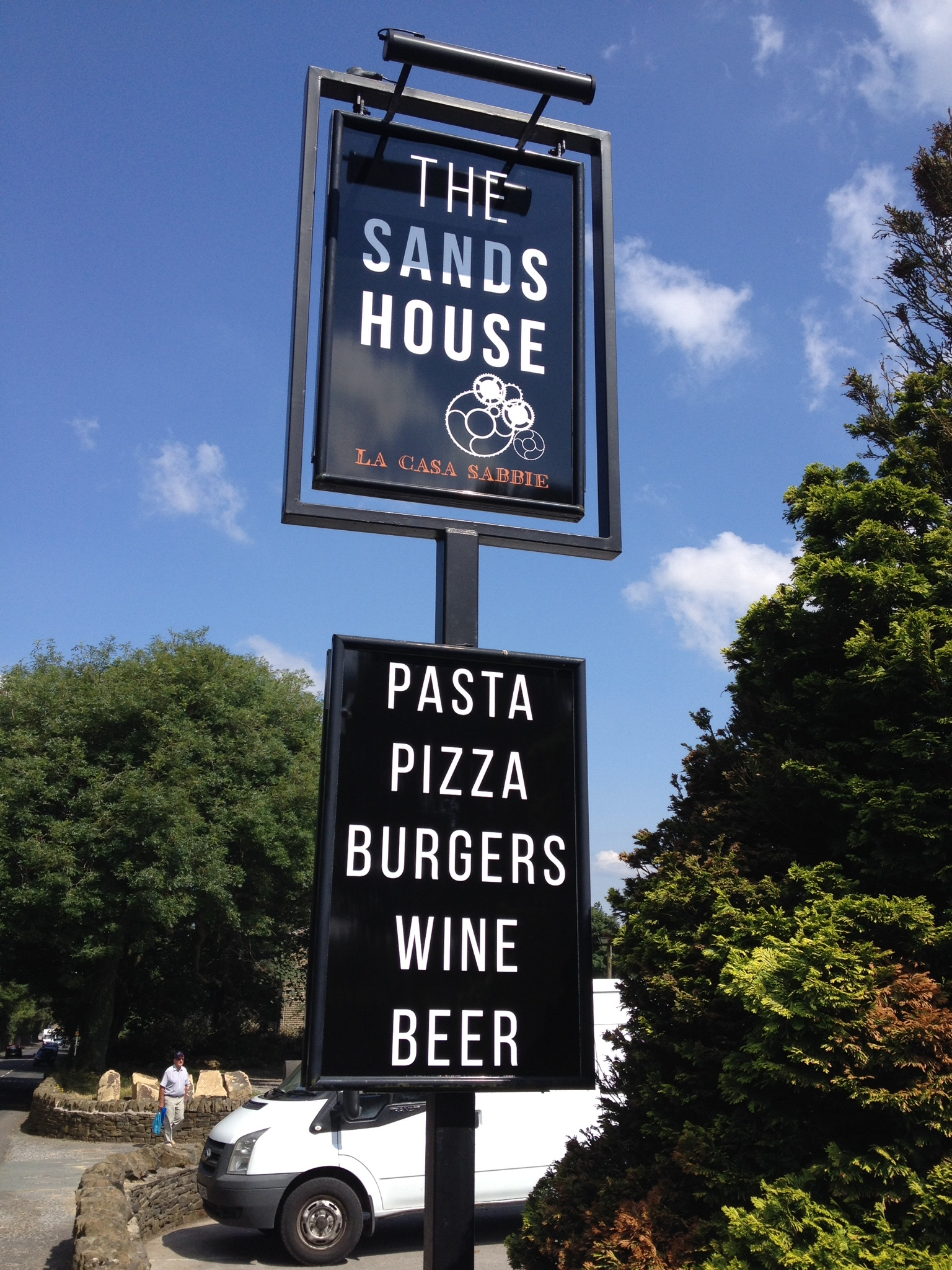Pub sign and post sign