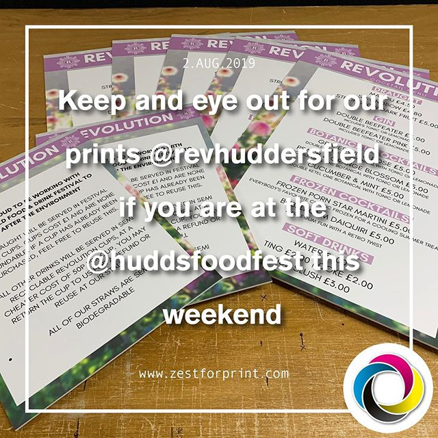 Visit @RevHuddersfield @huddsfoodfest this weekend and check out our print work while enjoying a cocktail or two @BNI_Terriers @Examiner 