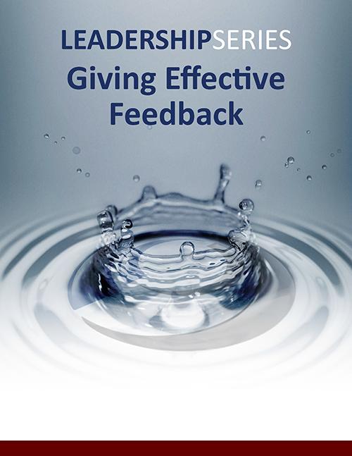 Giving Effective Feedback Program Description (PDF) »