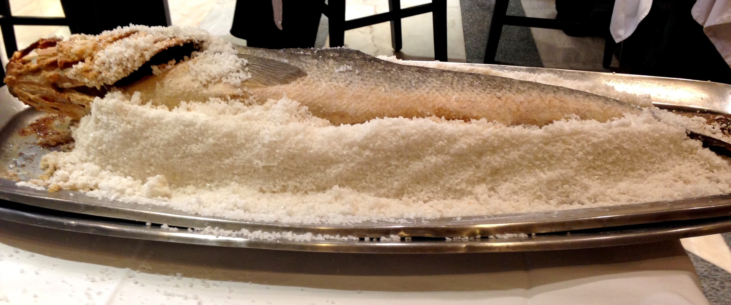 salt-baked fish