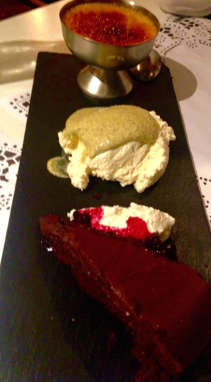 dessert tasting menu