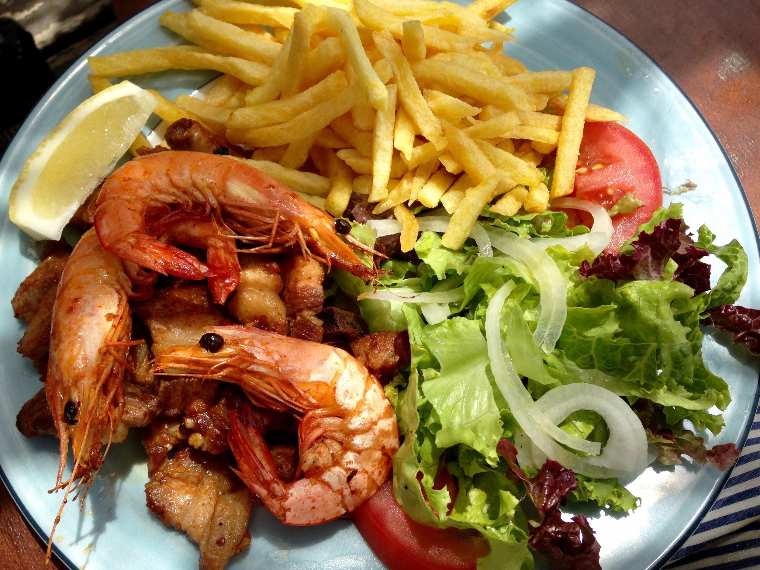 fried pork & shrimp