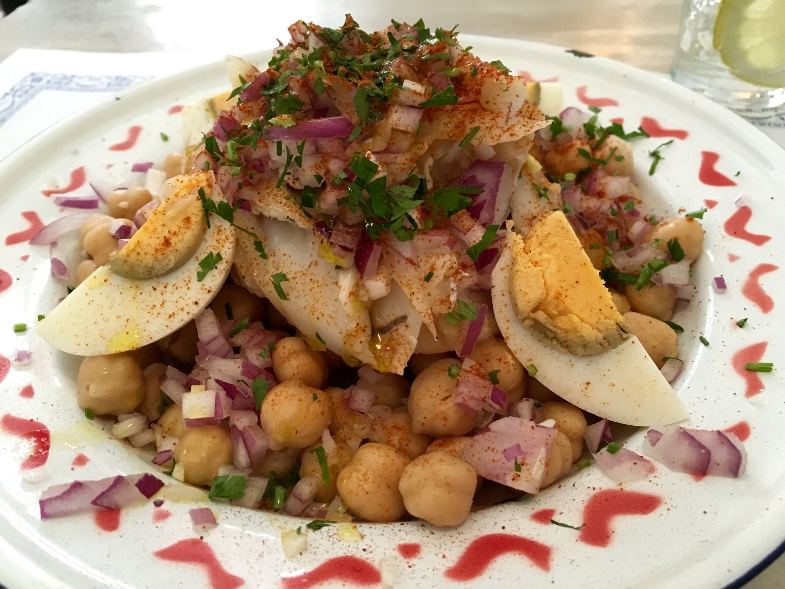 bacalhau & chickpea salad